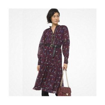 마이클 마이클 코어스 페이즐리 프린트 러플 드레스 $225 → $168.75