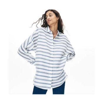 라코스테 루즈 핏 스트라이프 셔츠 $155 → $107.99