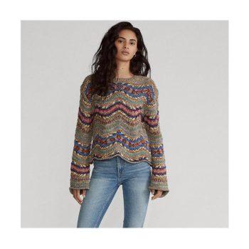 (정수정 착용) 폴로 랄프로렌 기하학 패턴 스웨터 $398