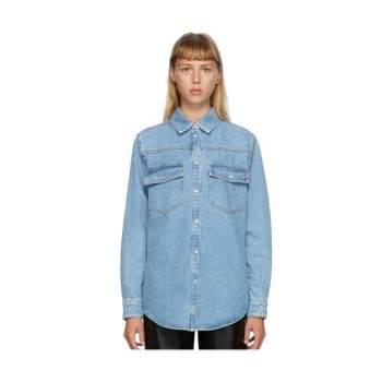 (이효리 착용) MSGM 블루 데님 셔츠 자켓 $370
