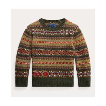(윌리엄 착용) 폴로 랄프로렌 보이 Logo Fair Isle  스웨터 $135
