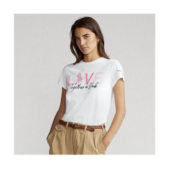 (정수정 착용) 폴로 랄프로렌 핑크 포니 반팔 티셔츠 $68