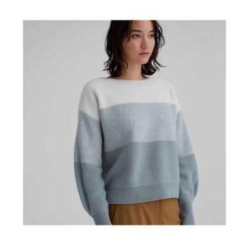 (조보아 착용) 클럽 모나코 스트라이프 캐시미어 보트넥 스웨터 $289
