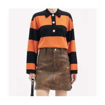 (기은세 착용) 가니 스트라이프 캐시미어 폴로 스웨터 $425 → $249.3