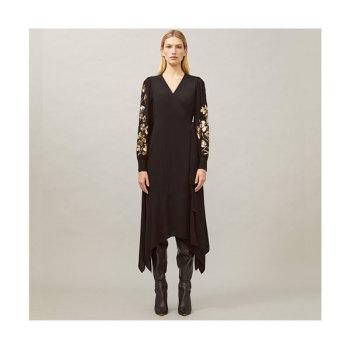 (최수영 착용) 토리버치 자수 랩 드레스 $698 → $199