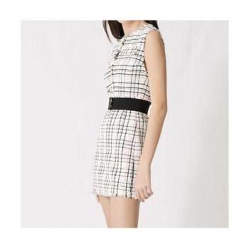 (태연 착용) 마쥬220RIANEY 벨트 트위드 드레스 $375 → $112.5