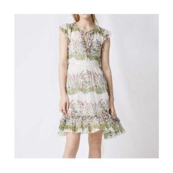 (박민영 착용) 마쥬 220REINETTE 플로럴 프린트 실크 드레스 $490 → $147