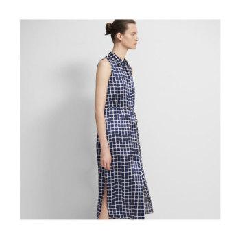 (이민정 착용) 띠어리 타일 프린트 민소매 셔츠 드레스 $495 → $123.75