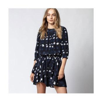 (선미 착용) 쟈딕 앤 볼테르 ROOKA 도트 실크 드레스 $498 → $139.4