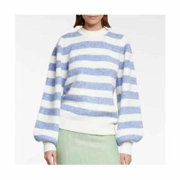 (로제, 유리 착용) 가니 스트라이프 스웨터 215유로 → 150유로