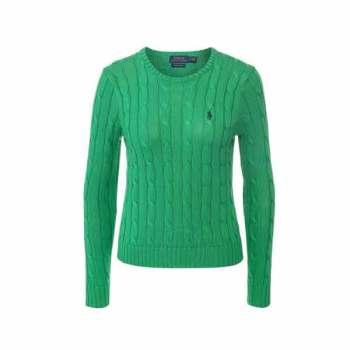 (손나은 착용) 폴로 랄프로렌 그린 케이블 코튼 스웨터 $165 → $63.99