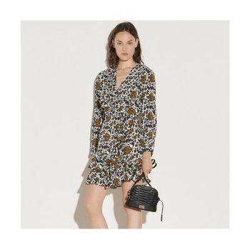 (손담비 착용) 산드로 쇼트 프린트 드레스 $395 → $158