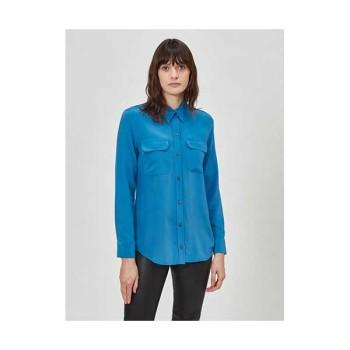 (수지,손예진,신민아 착용) 이큅먼트 슬림 시그니처 실크 셔츠 $230→ $138