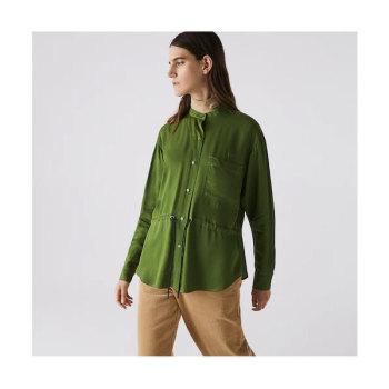 라코스테 우먼 마오 칼라 셔츠 $165 → $81.99