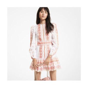 (혜리, 효민 착용) 마이클 마이클 코어스 아일릿 미니 드레스 $295 → $221.25