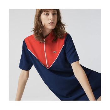 라코스테 집업 컬러블럭 반팔 드레스 $175→ $104.99