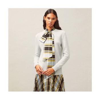 (유진, 황정음 착용) 토리버치 MADRAS DICKIE 스웨터 $498 → $186.75