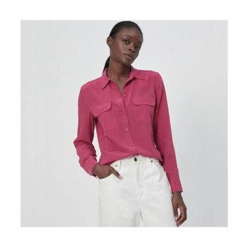 (수지,손예진,신민아 착용) 이큅먼트 슬림 시그니처 실크 셔츠(SANGRIA) $230→ $112.7