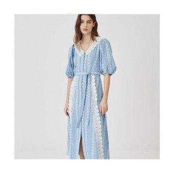 (태연 착용) 마쥬 221RAVIANA 콘트라스트 트리밍 드레스 $445 → $178