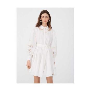(아린 착용) 마쥬 221REBELLO 셔츠 칼라 기퓌르 스케이터 드레스 $375 → $187.5