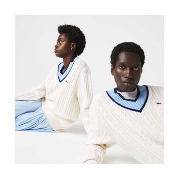 (SF9 영빈 착용) 라코스테 브이넥 울 케이블 스웨터  $198