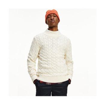 (김수현 착용) 타미 힐피거 맨 꽈배기 터틀넥 스웨터 $159 → $95.4