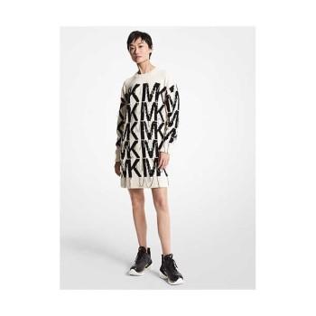 (김세정 착용) 마이클 마이클 코어스 인타르시아 로고 스웨터 드레스 $395 → $296.25