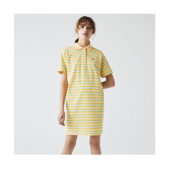 라코스테 스트라이프 코튼 반팔 폴로 드레스 $155 → $92.99