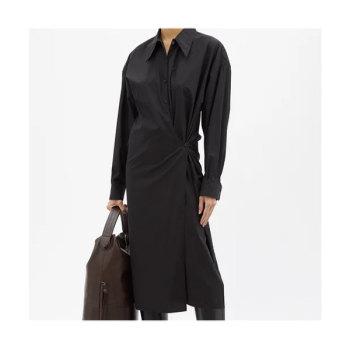 (갯마을 차차차 신민아 착용) 르메르 랩 프론트 셔츠 드레스 $783