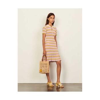 (김유정 착용) 산드로 크로쉐 폴로 드레스 $445  → $311.5