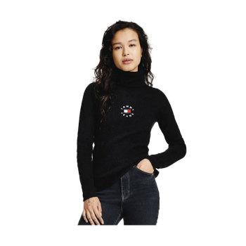 (화사 착용) 타미 진스 우먼 로고 골지 터틀넥 스웨터 $99.5 → $59.7